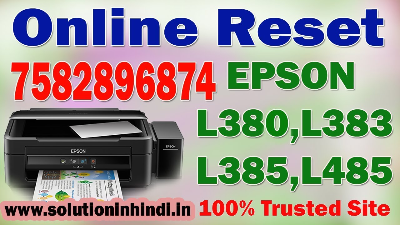 How to Download Epson L380,L383,l385,l485 Resetter by RT tech