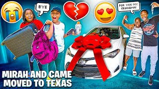 MIRAH AND KAM MOVED TO TEXAS & I SURPRISED MY GRANDMA WITH A CAR!