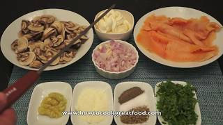Fussilli Pasta With Smoked Salmon Mushrooms & Cream Recipe How To Cook Great Food Italian