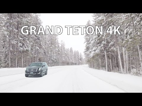 Grand Teton National Park 4K - Scenic Drive - Wyoming USA