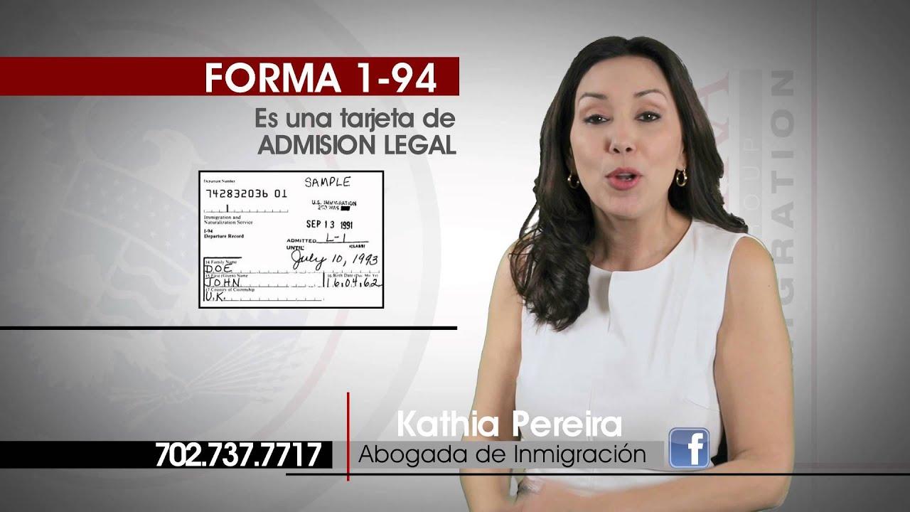 Pereira Law Group Que Es Una Forma I 94 Doovi