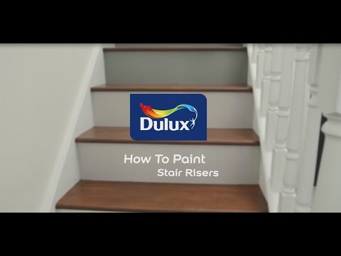 How To Paint Stair Risers Painted Wooden Stairs Dulux Youtube