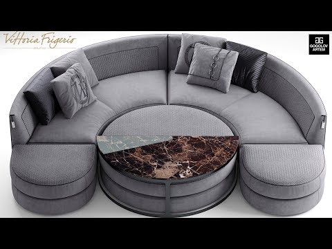 """№20.Моделирование дивана """" Vittoria frigerio Borromeo """" в 3d max и marvelous designer"""