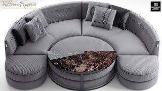 """№20. Sofa modeling """" Vittoria frigerio Borromeo """" в 3d max и marvelous designer"""