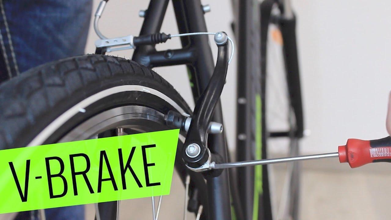 fahrrad v bremse einstellen schleifen beheben fahrrad. Black Bedroom Furniture Sets. Home Design Ideas