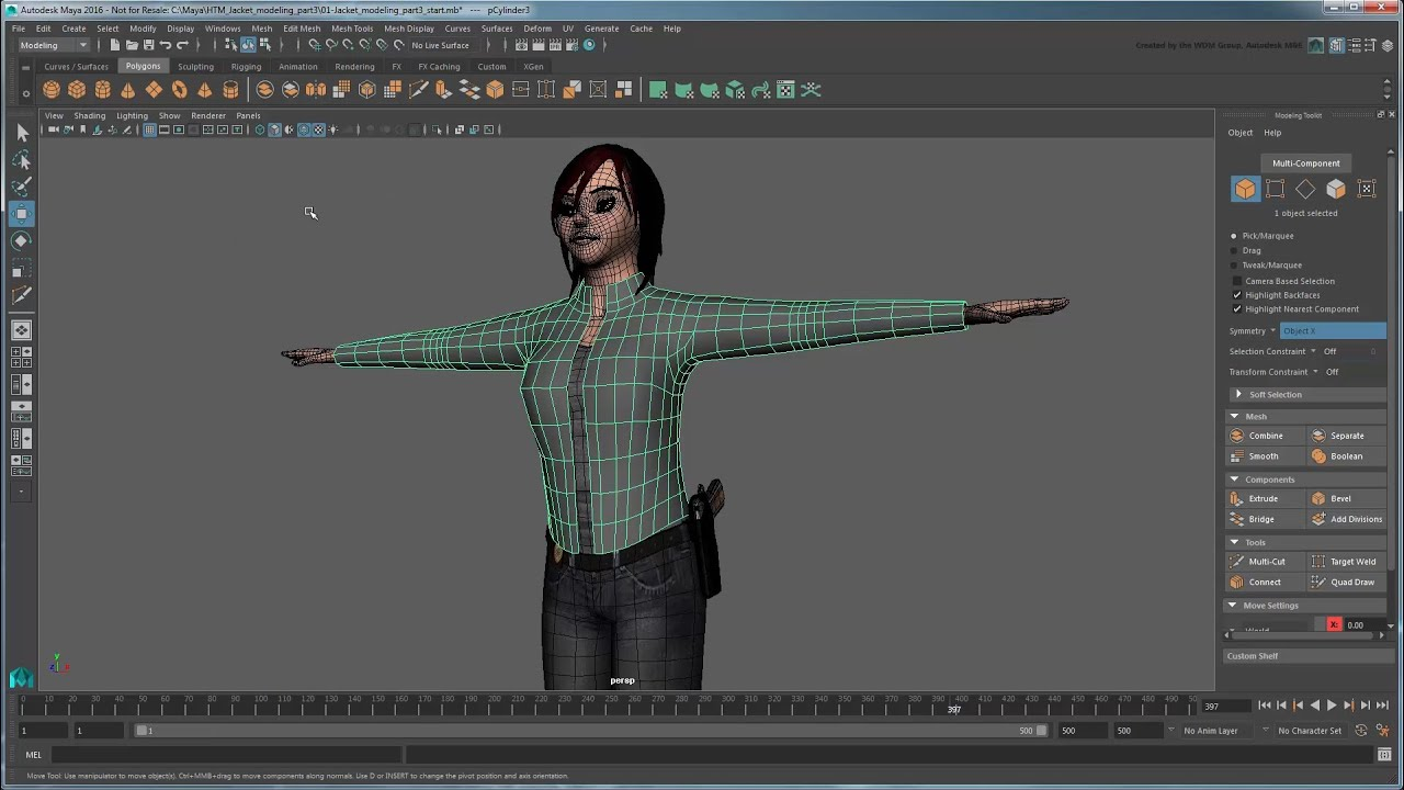 Modeling and retopologizing a jacket part 3 fine tuning Online 3d modeling