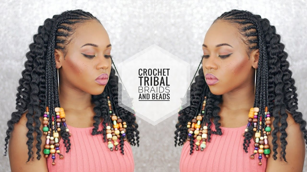 Hair Styles Braids With Beads: Crochet Braids And Beads! 1st Attempt