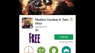 [100%Working] How To Download & Install MODERN COMBAT 4 ZERO HOUR Game Free For Any Android Device