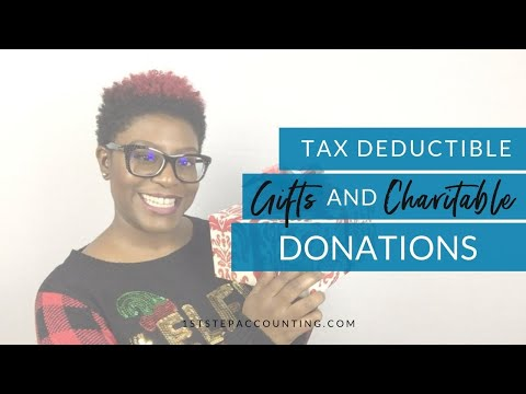 Tax Deductible Gifts And Charitable Donations