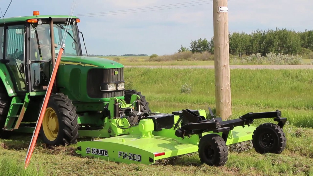 Tractor Mounted Brush Cutter : Schulte fx front mount rotary mower youtube