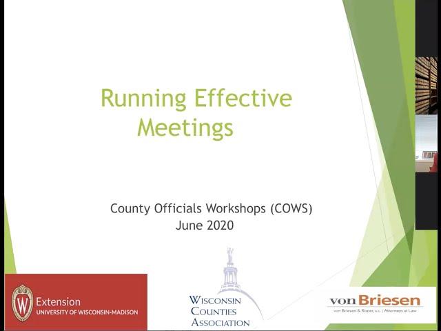 COWs June 22, 2020 Webinar