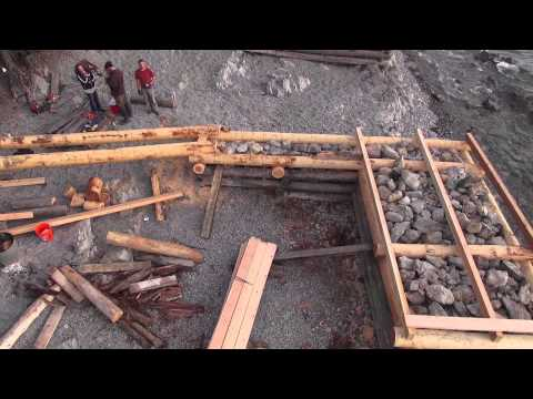 Flathead Lake Dock Construction from the Cinestar 6 and Sony CX760