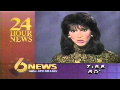 WDSU TV6 News Break New Orleans Lynn Ganser 1991