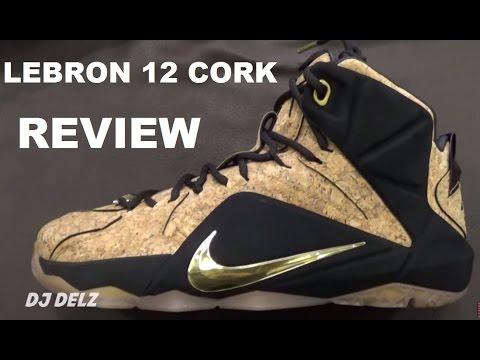 cdd05912b9a Nike Lebron 12 Cork EXT Shoe Review - YouTube
