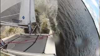 catamaran capsize in slow motion