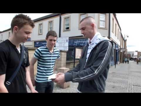 Mark Isaac   Ayr Close up street magician Mini Series   Ayr  Scotland