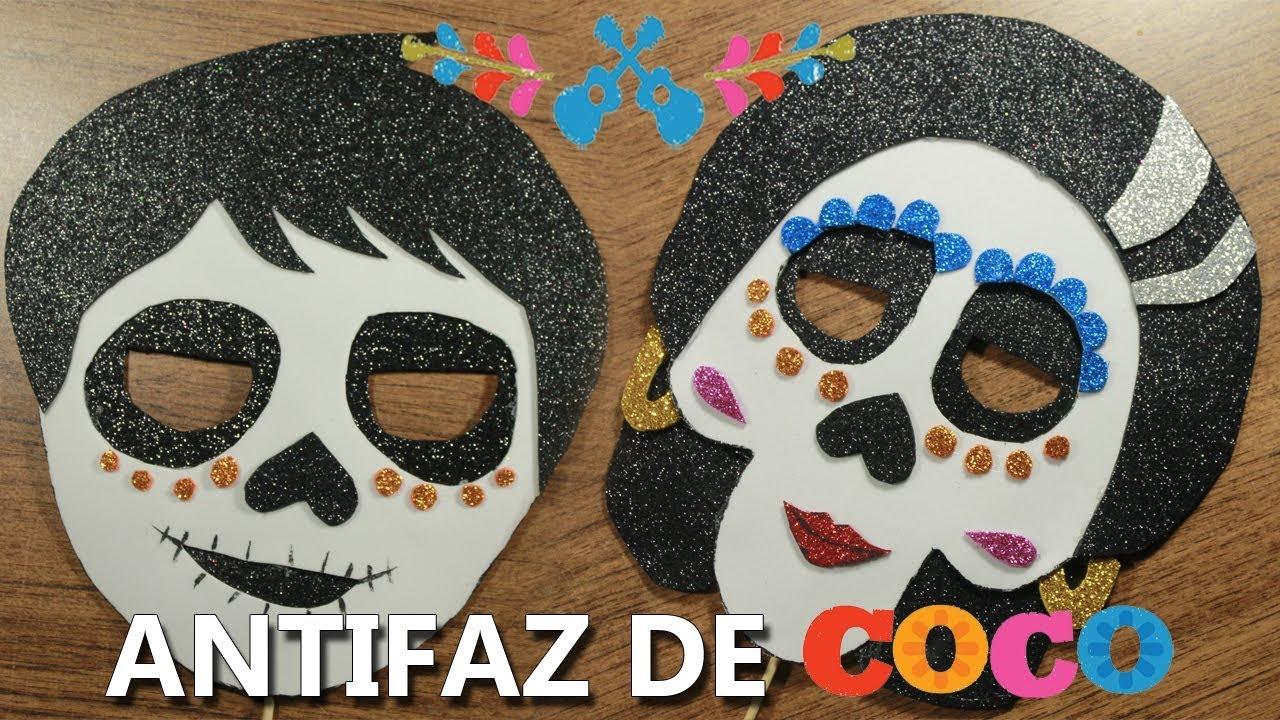 Antifaz De Personajes De Coco Película Manualidades Dia De
