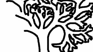 how to draw a bare tree