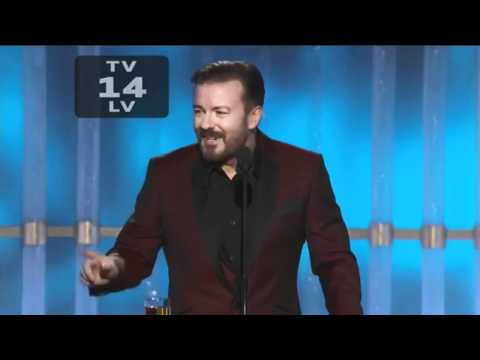 Ricky Gervais at Golden Globes 2012 & 2011 - THE BEST BITS