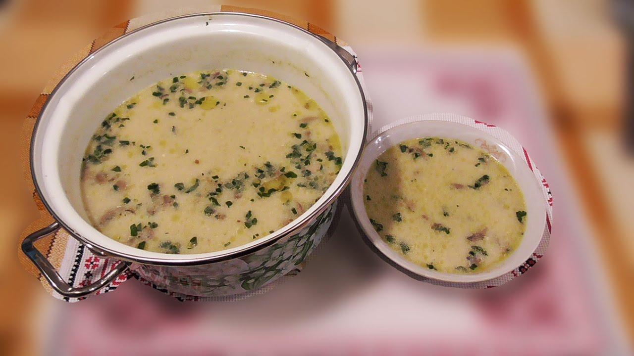 рецепт суп с грибами и сливками рецепт