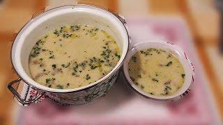 Суп с грибами и сыром  Сырный суп на скорую руку  Рецепт низкокалорийного блюда