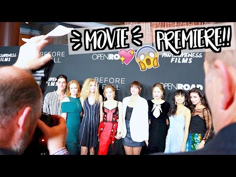 BEFORE I FALL MOVIE PREMIERE!!! AlishaMarieVlogs