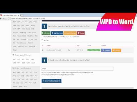 How to Convert WPD to Word