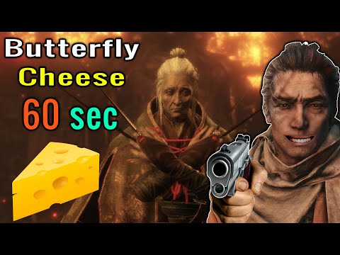 Sekiro: Shadows Die Twice - How To Cheese Lady Butterfly In 60 Seconds Easy/Fast