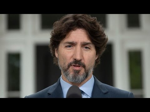 Trudeau pauses for 21 seconds before answering question about Trump's response to U.S. protests