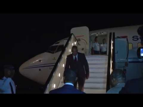 President Jacob Zuma arrives in Angola for the Great Lakes Region Conference