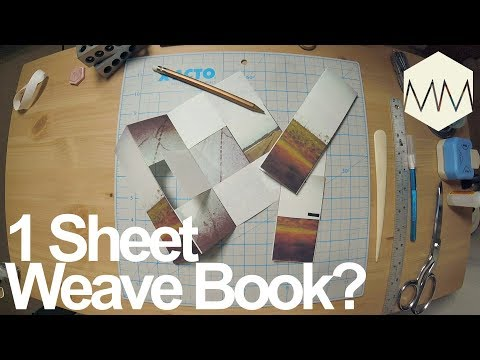 ▲ 1 Sheet Weave Book // What is this?! // Bookbinding Basics ep. 21