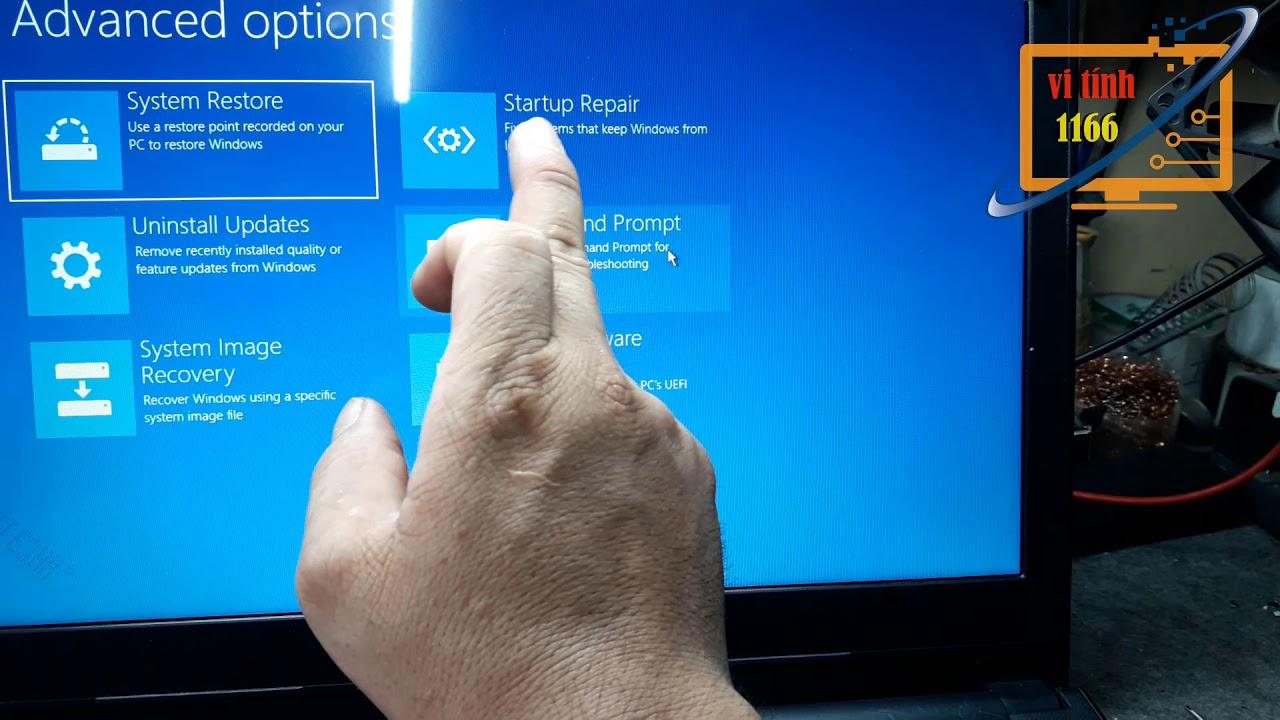 Automatic repair khi khởi động máy tính trên Windows 10 vi tính 1166 kha vạn cân
