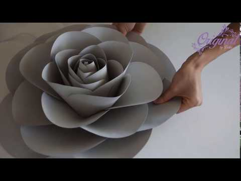 DIY Paper Flower || Flower Template #32 || Camellia Paper Rose