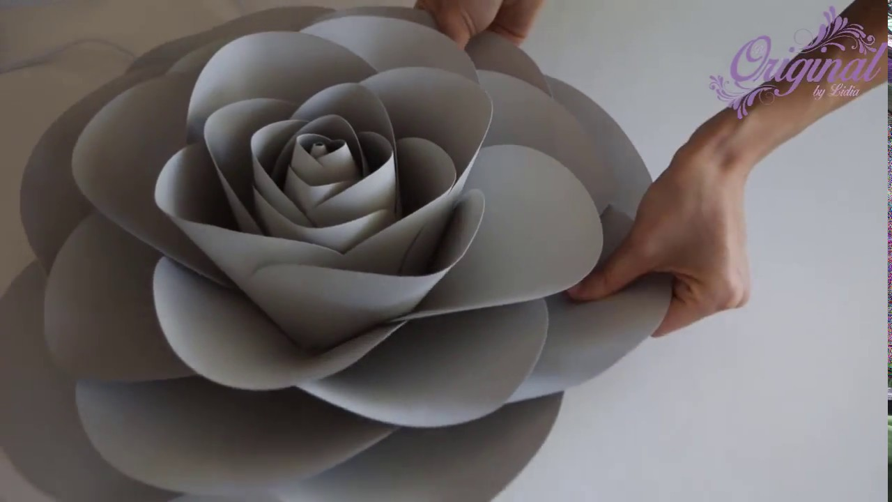 Diy Paper Flower Flower Template 32 Camellia Paper Rose Youtube