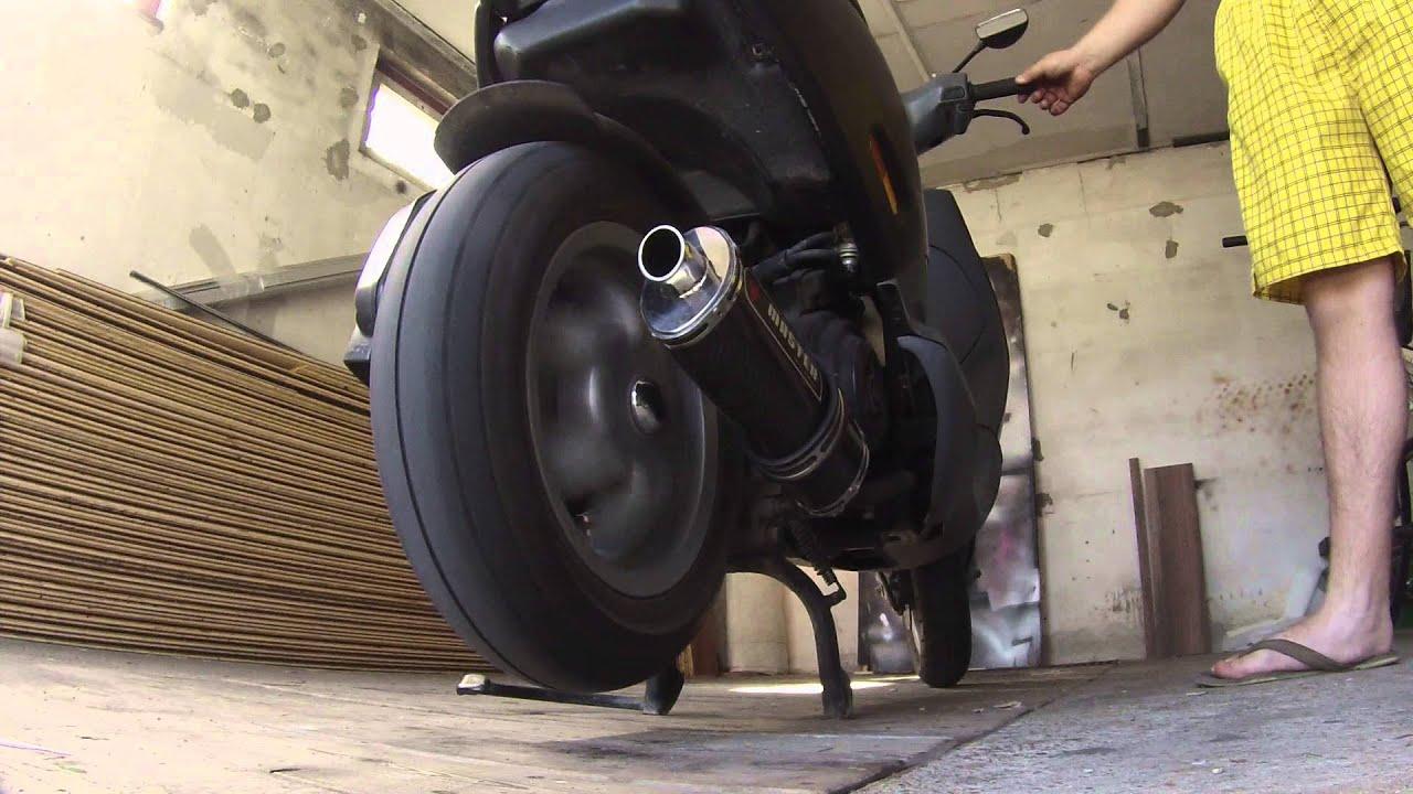 piaggio zip exhaust sound - youtube