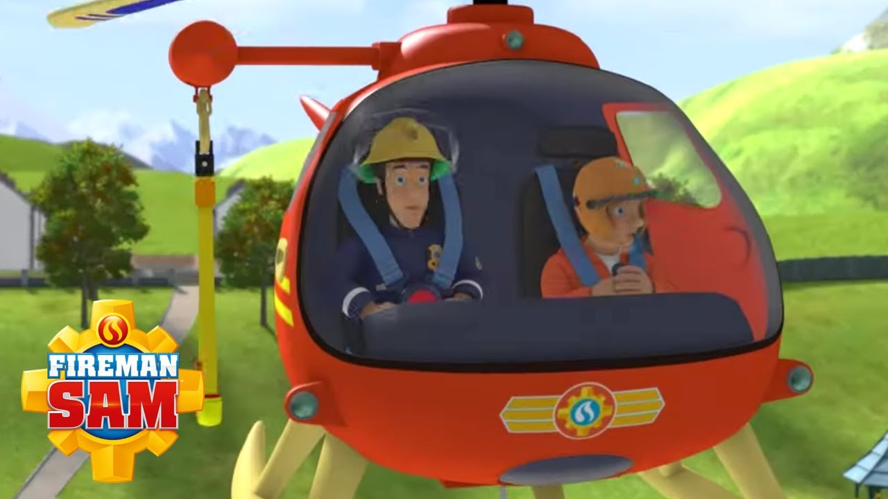 Wallaby is here!   Fireman Sam 🚁 Best Helicopter Rescues with Wallaby   Videos for Kids