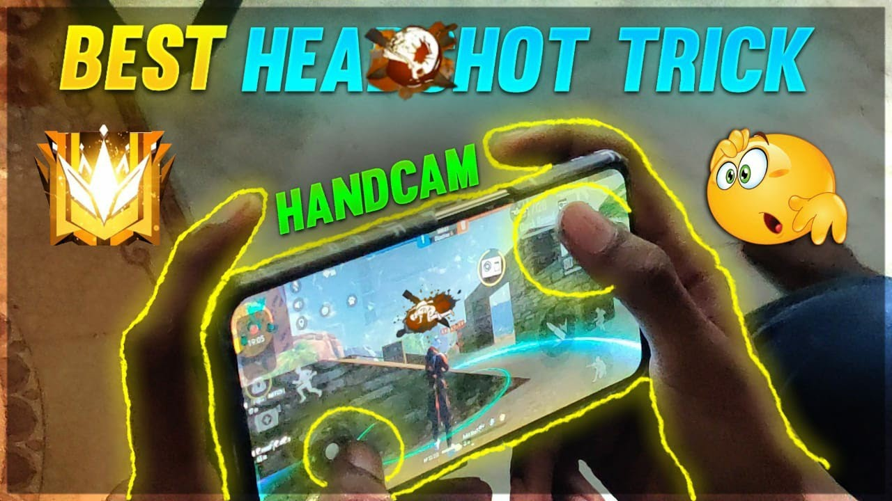 HANDCAM VIDEO[HEADSHOT TRICK]|FREE FIRE BEST HEADSHOT TRICK WITH HANDCAM|| FREE FIRE TIPS AND TRICKS