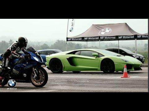 Мото против Авто. Сборка 2016. Moto vs Car drag race!!! - Видео онлайн