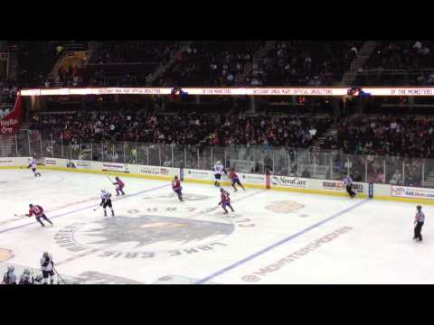 Lake Erie monsters fight at three minutes