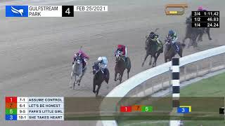 Gulfstream Park February 25, 2021 Race 4
