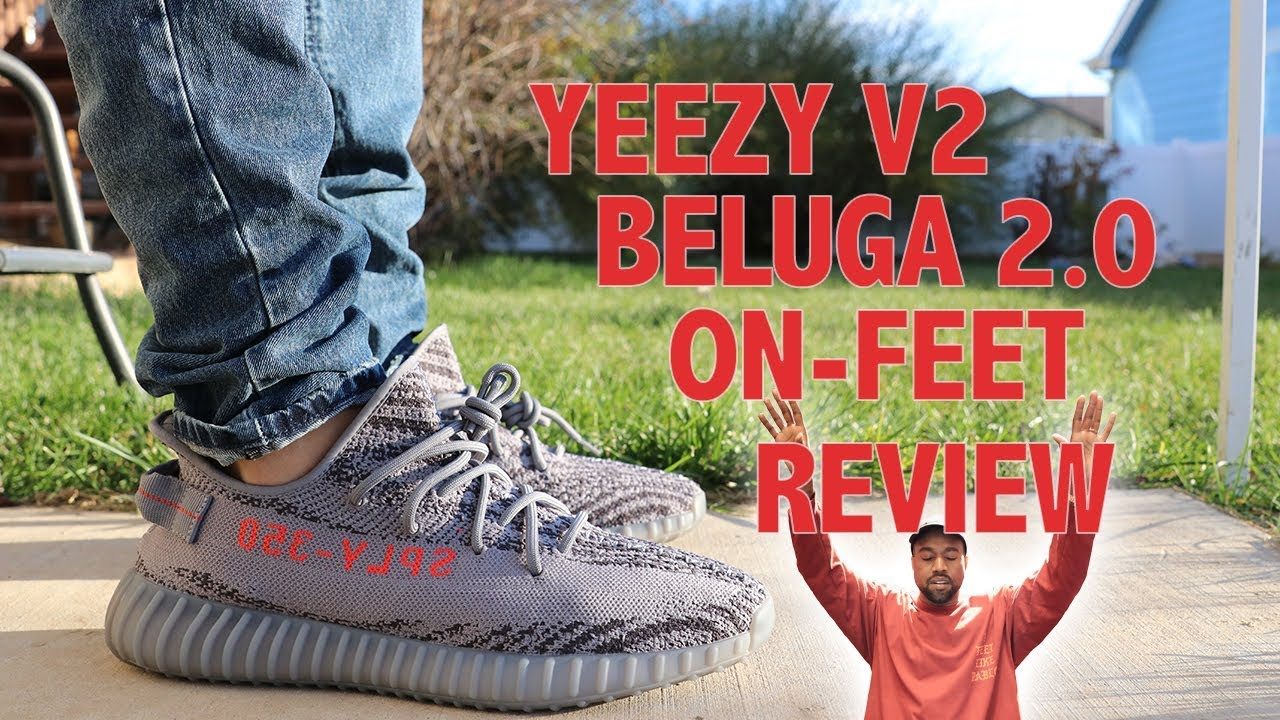 ff78b04a8ae3e9 ADIDAS YEEZY BOOST 350 V2 BELUGA 2.0 REVIEW   ON FOOT - YouTube