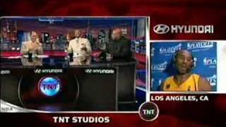 Kenny Smith tries to imitate Kobe jumping the aston martin
