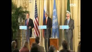 كيري و لافروف...اتفاق على خطوات تسبق مؤتمر جنيف 2