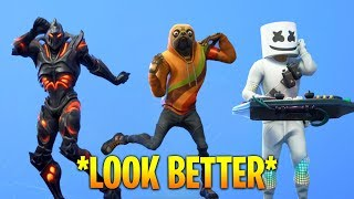 TOP 100 FORTNITE DANCES & EMOTES LOOK BETTER WITH THESE SKINS..!