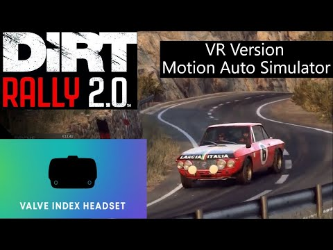 Dirt Rally 2.0 VR Motion Auto Simulator Valve Index Full Kit Game play #1