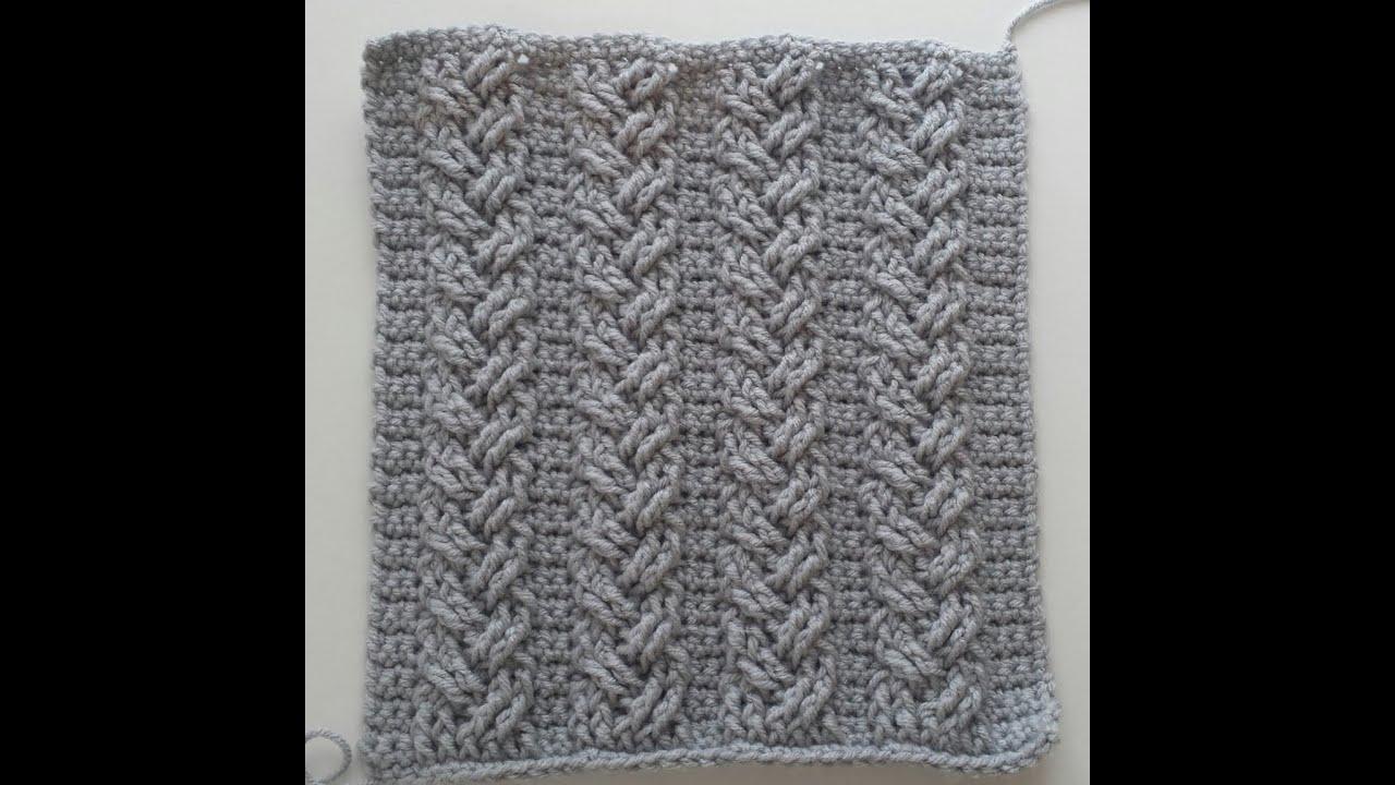 Crochet Cables Single Plaited Cable Part 3 Rows 7 End