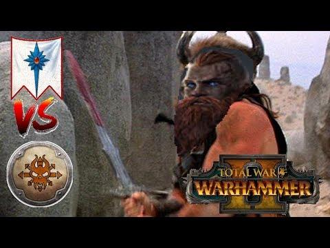 High Elves vs Norsca | THE NORSCAN HORDES - Total War Warhammer 2