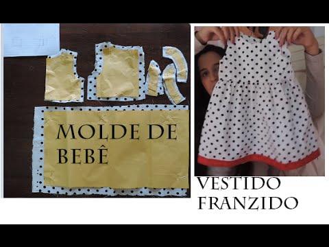 Molde vestido de beb franzido youtube - Traje de duende para nino ...
