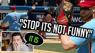 I put Bryce Harper at pitcher against a Nationals Fan! MLB The Show 19