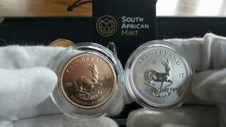 Gold Krugerrand - King of the gold bullion coin - 2017 South African Krugerrand 50 Anniversary Privy